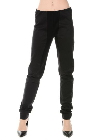 Pantaloni Leggins in Cotone Stretch