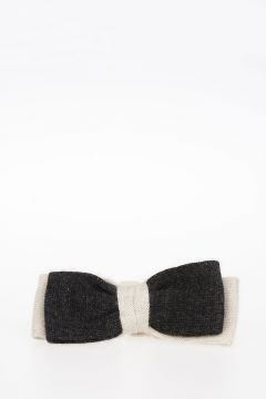 Bicolor Knitted Bow Tie