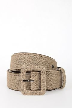 Linen and Leather Belt 45mm