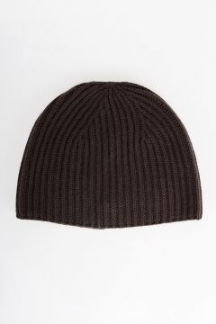 Cashmere Ribbed Beanie Hat