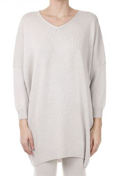 Oversize Lurex Sweater in Virgin Wool