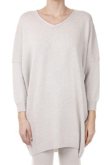 Oversize Lurex Sweater in Virgin Wool
