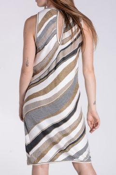 Intarsia Striped Dress