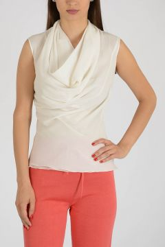Silk Draped Top