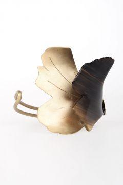Horn and Metal Bracelet