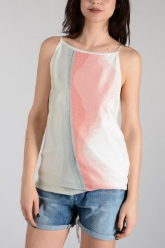 Abstract Intarsia Tank