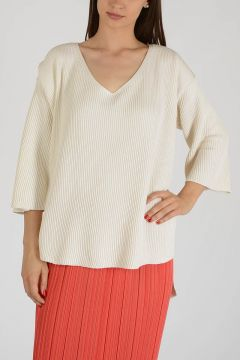 Asymmetric Cut Oversized Sweater