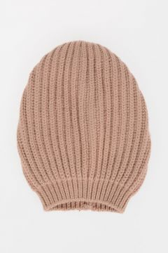 Cashmere Blend Knitted Beanie Hat