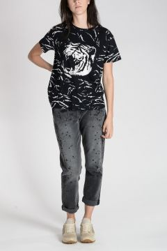TIGER Printed Cotton T-shirt
