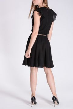 Ruffled Embroidered Dress