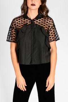 Embroidery Asymmetric Cut blouse