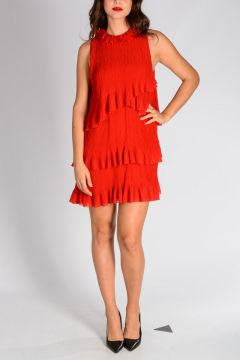 Flared Dress With Frill