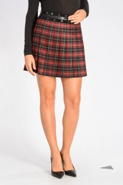 Virgin wool Pleated Skirt