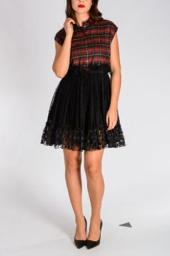 Virgin wool Blend Checked Dress
