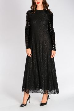 Laced Dress With Sequins