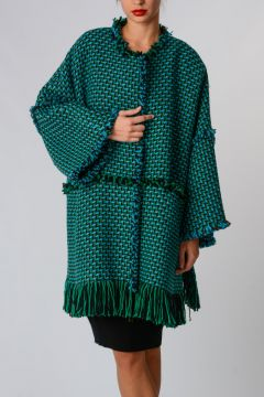 Knitted Coat With Fringes