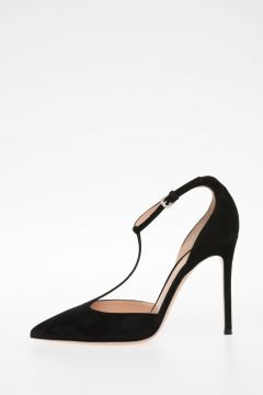 10cm Suede Leather ROMY Decollettes