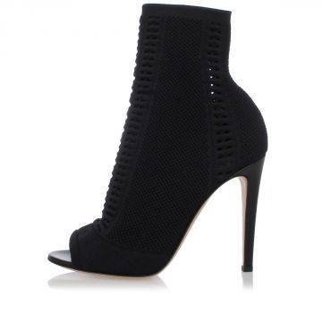 Knit Fabric ankle Boots 11 cm