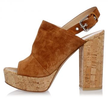 Suede Leather MARCY 12 cm Wedge