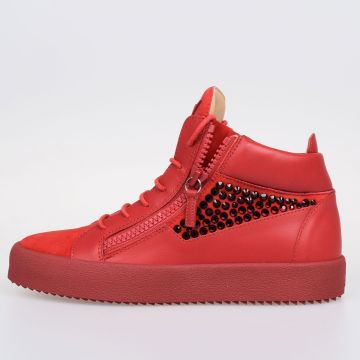 MAY LONDON Leather High Top Sneakers