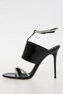 11cm Leather Jewel Sandals
