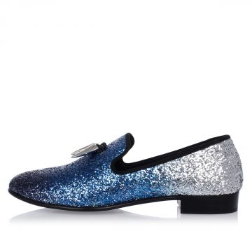 Leather Glitter Loafer KEVIN