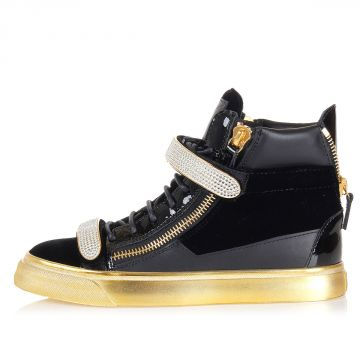 """LONDON""  leather High Sneakers"