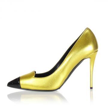 YVETTE Leather Pump Heel 10 cm