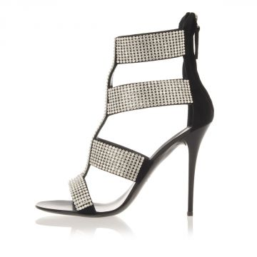 Sandalo HENRY in Pelle con Strass Tacco 11 cm