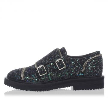 HILARY GLITTER Loafer with buckles