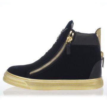 Leather velvet VERONICA High sneaker