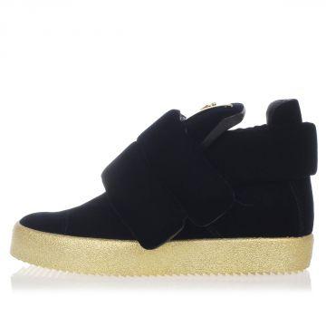 Sneakers alte VERONICA in Pelle e Velluto