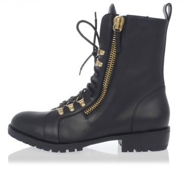 Leather Boots with Zip