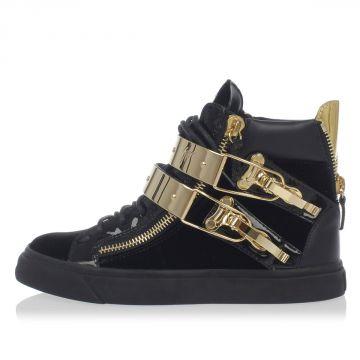 Sneakers in Vernice e Tessuto