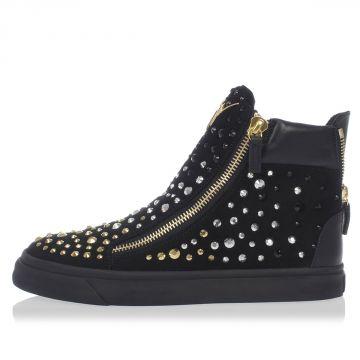 Sneakers in Camoscio con Borchie