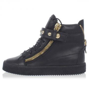 Sneakers in Pelle Spazzolata