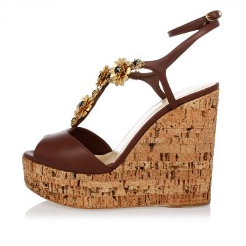 Leather Jewel ROZ Wedge