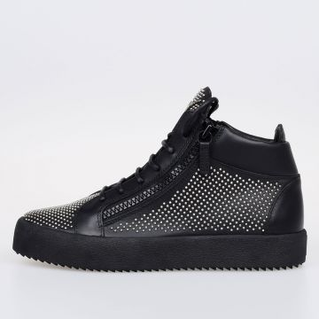 MAY LONDON Studded Leather Sneakers
