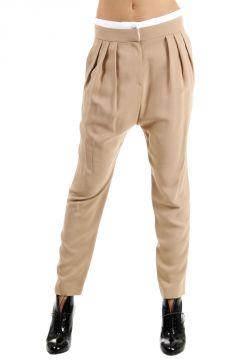 Pantalone Elasticizzato Con Pinces