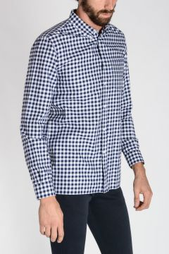 Camicia Button-down in Popeline di Cotone