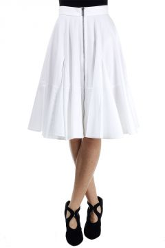 Cotton double zipped Skirt