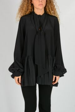 Self Tie Scarf Collar Blouse