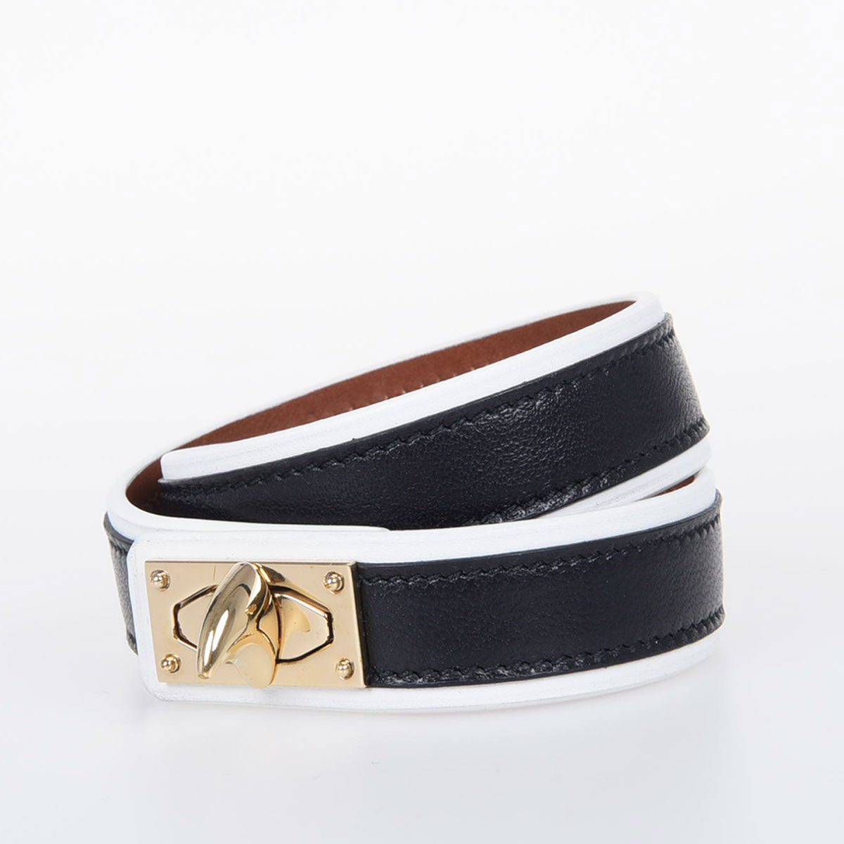 Two Row Shark Leather Bracelet