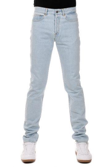 Jeans in Denim Light Blue con Applicazione 17 cm