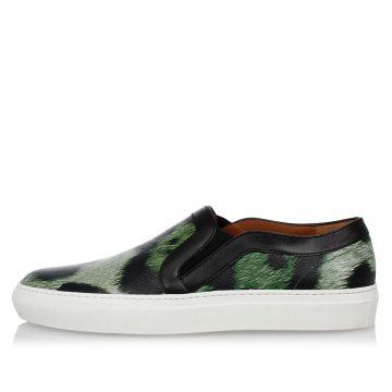 Sneakers SKATE Slip on in Pelle Stampata