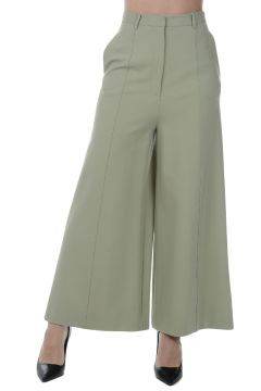 Stretch Fabric Culotte Pants