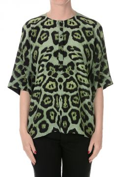 Printed Leo Silk Blouse