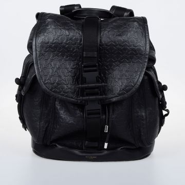 OBSEDIA Embossed Star Leather Backpack