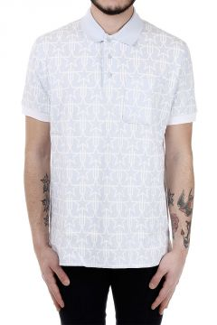 Pique Cotton Star Printed Polo
