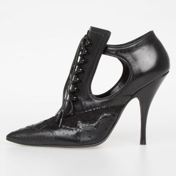Leather BOTTINE SHOW Shoes 11 cm